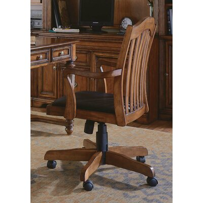 "Hooker Furniture Brookhaven 60"" W Leg Writing Desk with Tilt Swivel Chair"