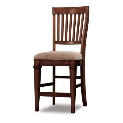 Abbott Place Slat Back Counter Stool in Rich Warm Cherry