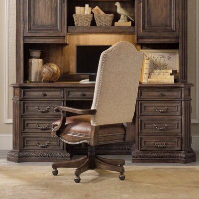 Hooker Furniture Rhapsody Computer Credenza Desk with Optional Hutch