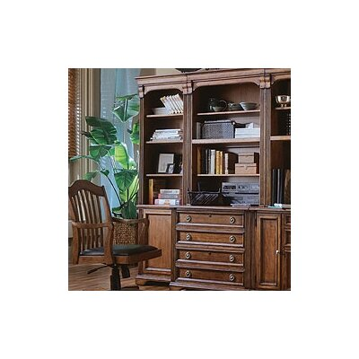 "Hooker Furniture Brookhaven 78"" H Left Bookcase in Medium Clear Cherry"