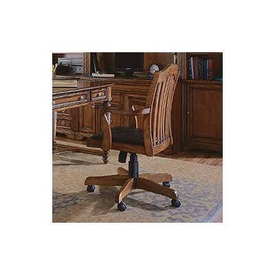 Brookhaven Tilt Swivel Chair in Medium Clear Cherry