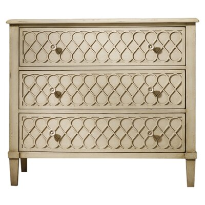 Hooker Furniture Melange Raised Lattice 3 Drawer Front Chest
