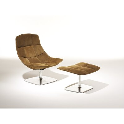 Knoll ® Jehs+Laub Lounge Chair and Ottoman with Pedestal Base