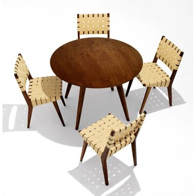 Risom 5 Piece Dining Table with Risom Side Chairs