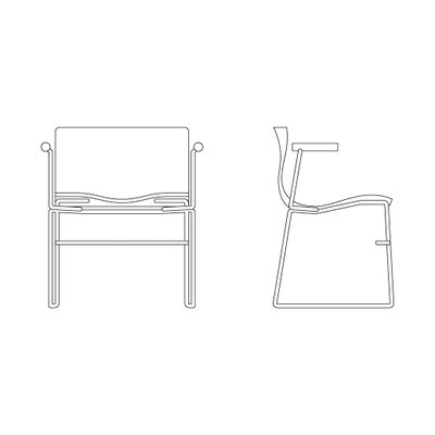 Knoll ® Handkerchief Non-Stacking Arm Chair