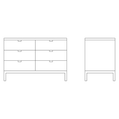 Knoll ® Florence Two Position Credenza with Six Drawers