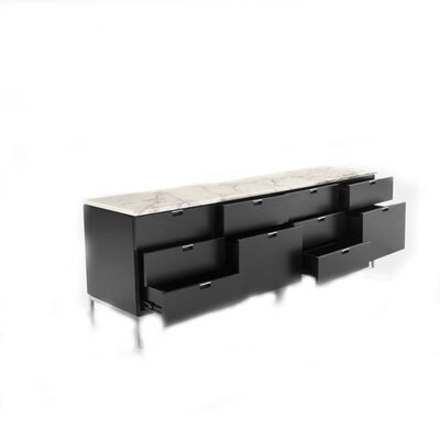 Knoll ® Florence Four Position Credenza with Eight Drawers