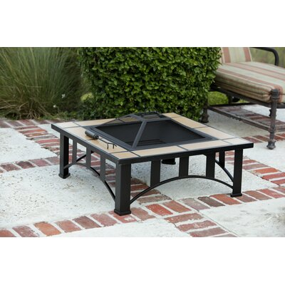 Fire Sense Tuscan Tile Mission Style Fire Pit Table