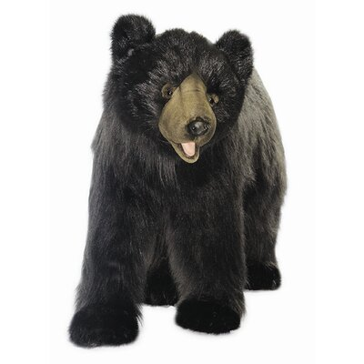 Hansa Toys Ride-On Black Bear Stuffed Animal