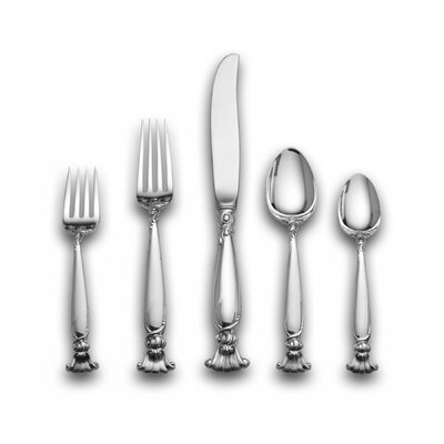 Wallace Romance of The Sea 66 Piece Dinner Flatware Set with Dessert Spoon