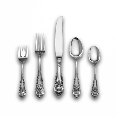 Sir Christopher 46 Piece Dinner Flatware Set with Dessert Spoon and Server