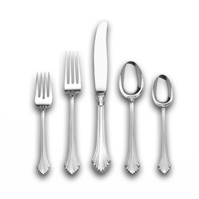 French Regency 5 Piece Dinner Flatware Set with Place Spoon