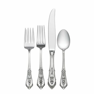 Rose Point 4 Piece Dinner Flatware Set
