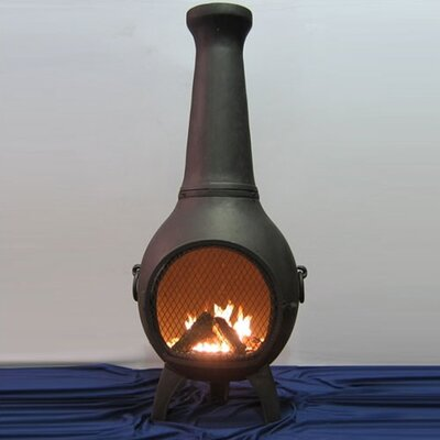 The Blue Rooster Aluminum Wood Prairie Chiminea & Reviews | Wayfair