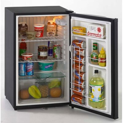 4.4 Cubic Ft. Counter-Height Refrigerator in Black