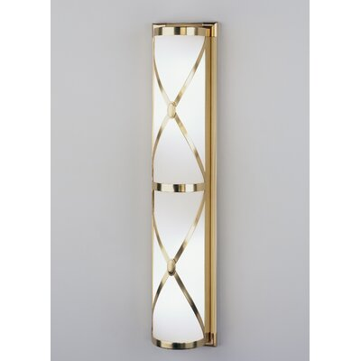 Robert Abbey Chase Large Half Round Wall Sconce in Antique Natural Brass