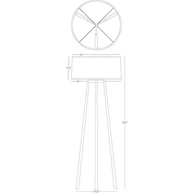 Robert Abbey Shinto  Tripod Floor Lamp in Wrought Iron