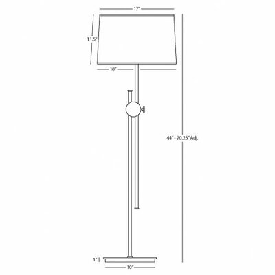 Robert Abbey Telescoping Floor Lamp with Disk Housing