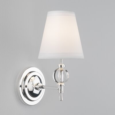 Robert Abbey Muses Calliope Wall Sconce in Lead Crystal