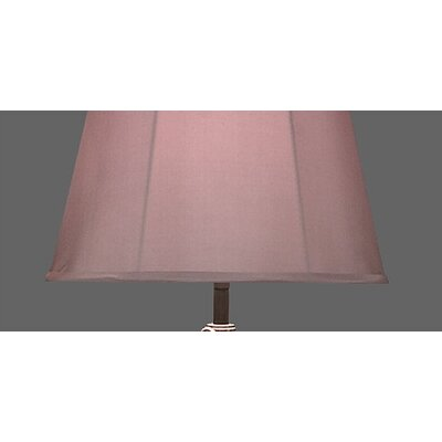 Robert Abbey Bruno Table Lamp in Leaded Bronze with Grey Taupe Fabric Stretch Shade