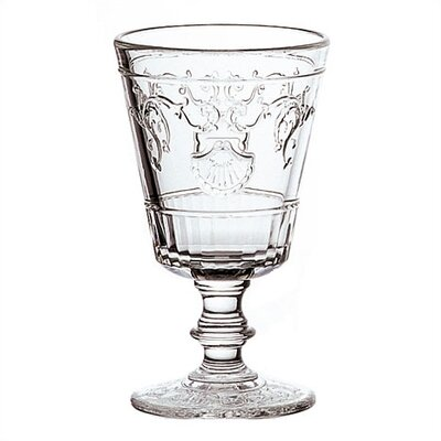 LaRochere 7 Ounce Wine Glass in Versaillies Motif (Set of 6)