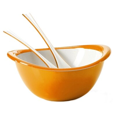 Omada Trendy Bowl, Colander and Salad Servers Set