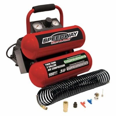 Speedway 2 Gallon Twin Stack Portable Air Compressor