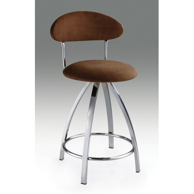 "Creative Images International 30"" Microfiber Barstool in Brown"
