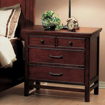 Willow Creek 4 Drawer Nightstand