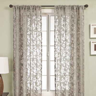 Softline Home Fashions Badi Scroll Rod Pocket Curtain Single Panel