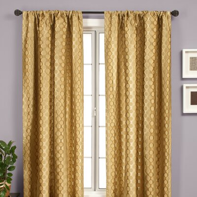 Softline Home Fashions Liona Rod Pocket Curtain Single Panel