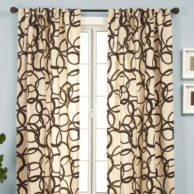 Softline Home Fashions Mia Rod Pocket Curtain Single Panel