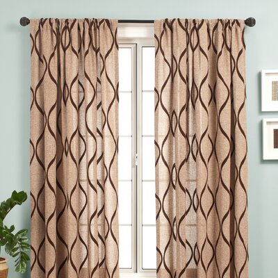 Softline Home Fashions Bali Rod Pocket Curtain Single Panel