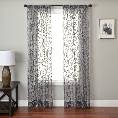 Softline Home Fashions Abel Rod Pocket Curtain Single Panel