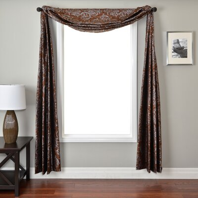 Softline Home Fashions Laura 6 Yard Single Window Scarf