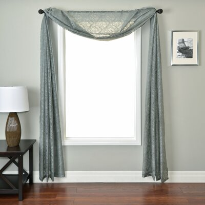 Softline Home Fashions Badi Medallion 6 Yard Single Window Scarf