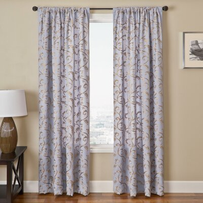 Home fashions badi scroll rod pocket curtain panel amp reviews wayfair