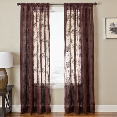 Softline Home Fashions Florence Rod Pocket Window Curtain Single Panel