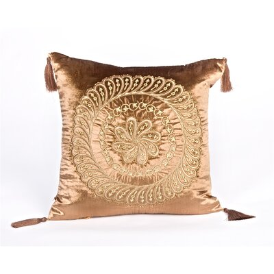 Debage Inc. Tudor Polyester Velvet Square Pillow