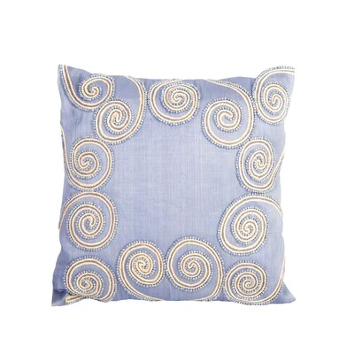 Debage Inc. Sea Side Beaded Swirl Pillow