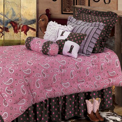 HiEnd Accents Pink Paisley Bedding Collection
