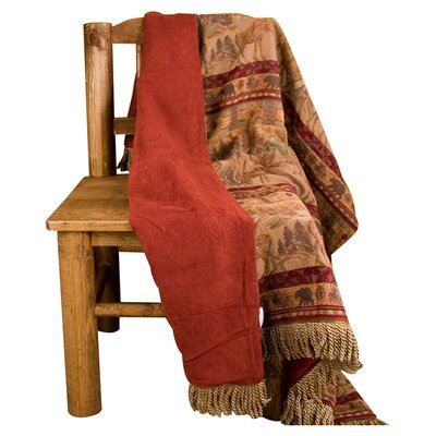 HiEnd Accents Moose Reversible Polyester Throw