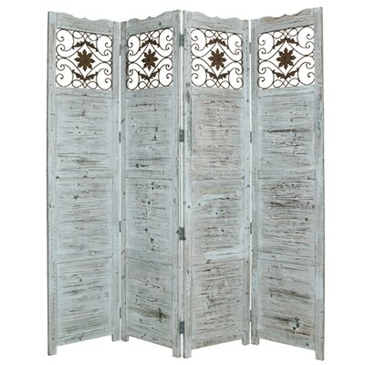 "85"" x 76"" Nantucket Screen 4 Panel Room Divider"