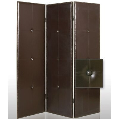Screen Gems Regent Faux Leather Room Divider