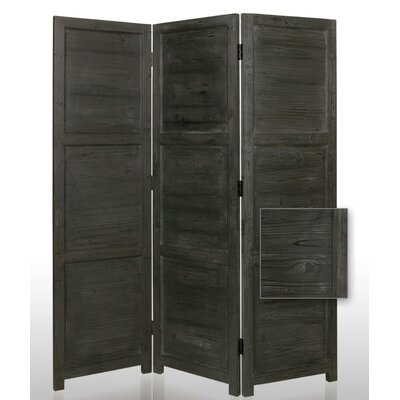 "Screen Gems 72"" Nantucket Painted Room Divider in Black"