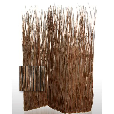 Screen Gems Adirondack indoor / Outdoor Decorative Room Divider in Brown