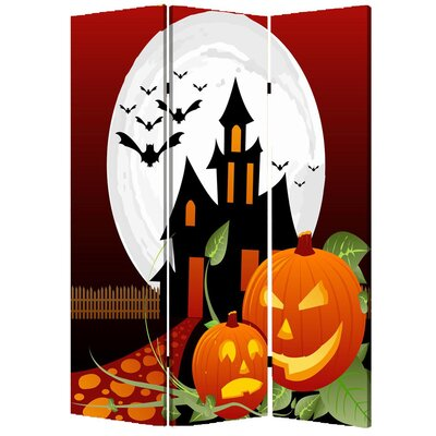 "Screen Gems 71"" x 47"" Halloween 3 Panel Room Divider"