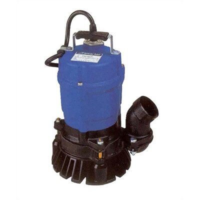 "Tsurumi 2"", 1/2 HP Semi-Vortex Submersible, Trash Pump with Agitator"