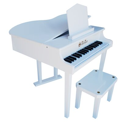 Schoenhut Concert Grand Piano with Opening Top in White
