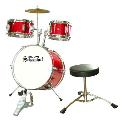 Schoenhut 5 Piece Junior Drum Set in Red